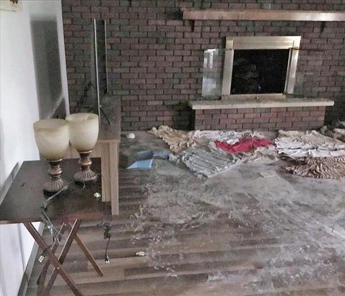 Fireplace Fire Cleanup & Restoration in a Home in Minerva Before