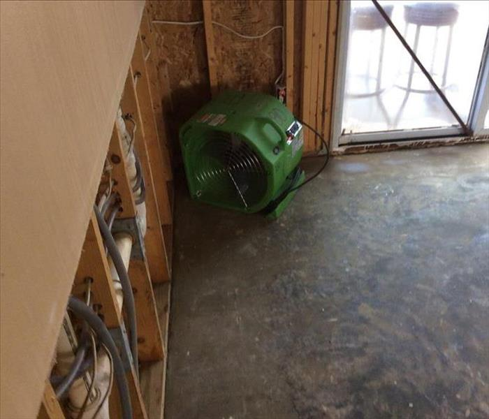 Water Damage to Hardwood Flooring in Minerva Ohio After