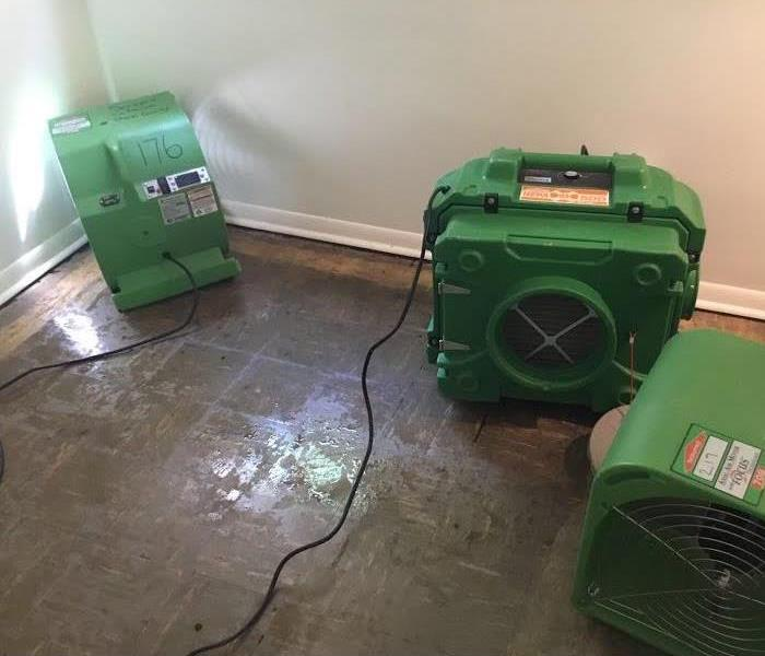 Water Clean up in a home in Louisville, Ohio